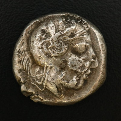 Ancient Greek, Attica, Athens AR Tetradrachm, ca. 400 B.C.