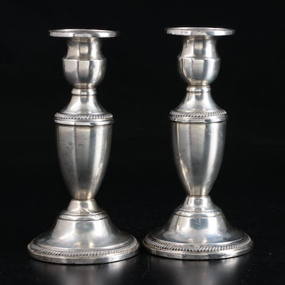 F.B. Rogers Weighted Sterling Silver Candlesticks