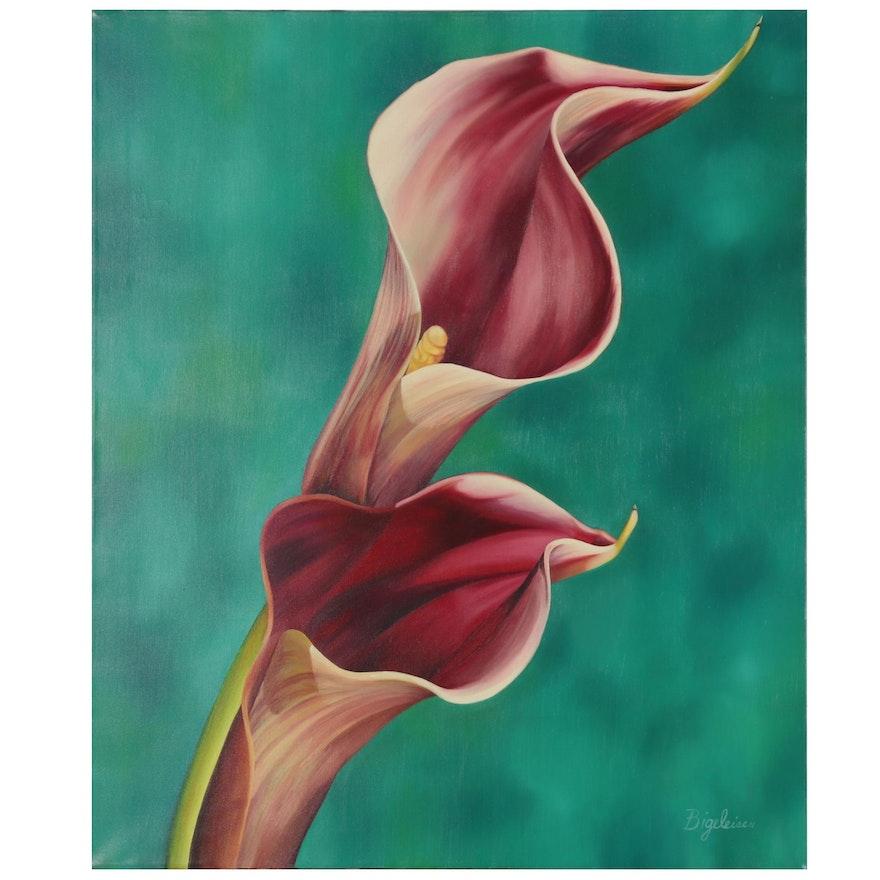 """Deborah Bigeleisen Oil Painting """"Romeo and Juliet,"""" 2001"""