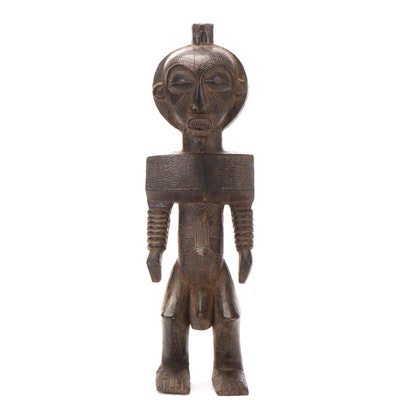 Tabwa Style Carved Wood Figure, Central Africa