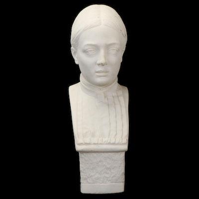 Gaetano Rossi Marble Portrait Bust, Late 19th Century