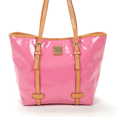 Dooney & Bourke Pink Patent Leather and Leather Tote