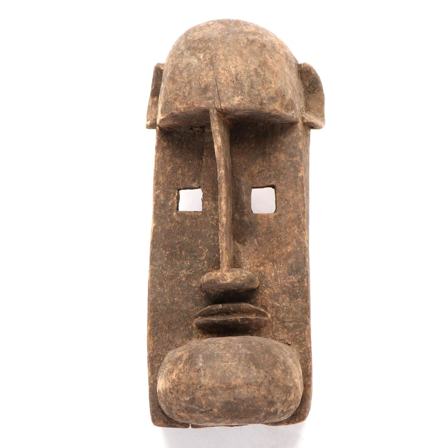 Dogon Style Carved Wood Mask, West Africa