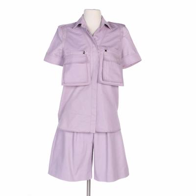 Max Mara Lavender Short Sleeve Pocket Front Shirt with Shorts