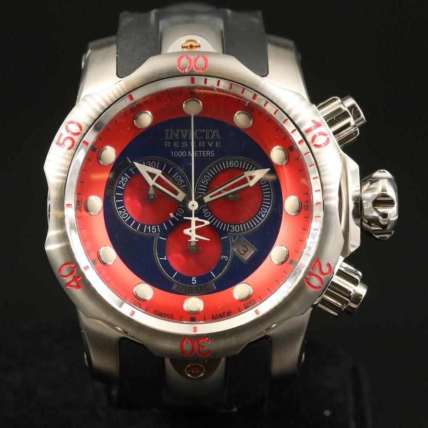 Invicta Reserve Venom Puppy Edition Stainless Steel Quartz Wristwatch
