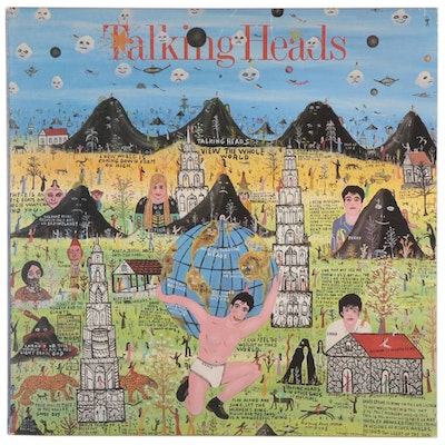 "Howard Finster Designed Talking Heads ""Little Creatures"" Vinyl Record, 1985"