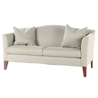 Ethan Allen Camelback Upholstered Sofa, Late 20th Century