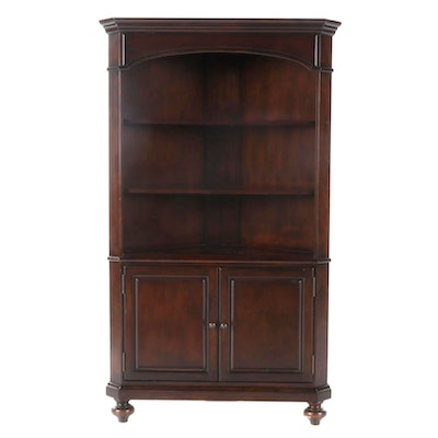 "Home Meridian ""Bradford"" Contemporary Dark Walnut Corner Cupboard"
