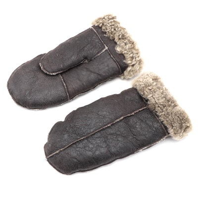 Men's Walter Davoucci Sheepskin and Shearling Mittens