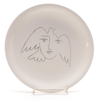 Salins French Ceramic Luncheon Plate after Pablo Picasso