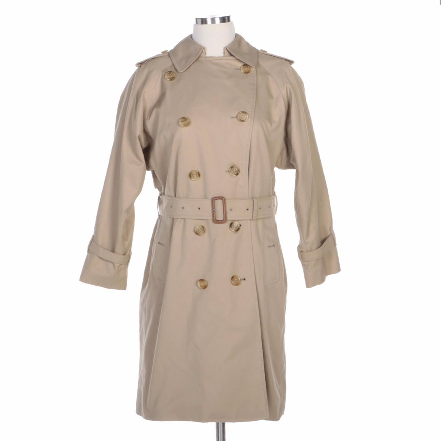 Burberrys Double-Breasted Trench Coat with Removable Wool Lining