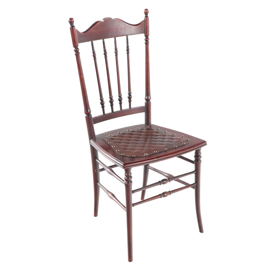 American Birch Spindle-Back Side Chair, Early 20th Century