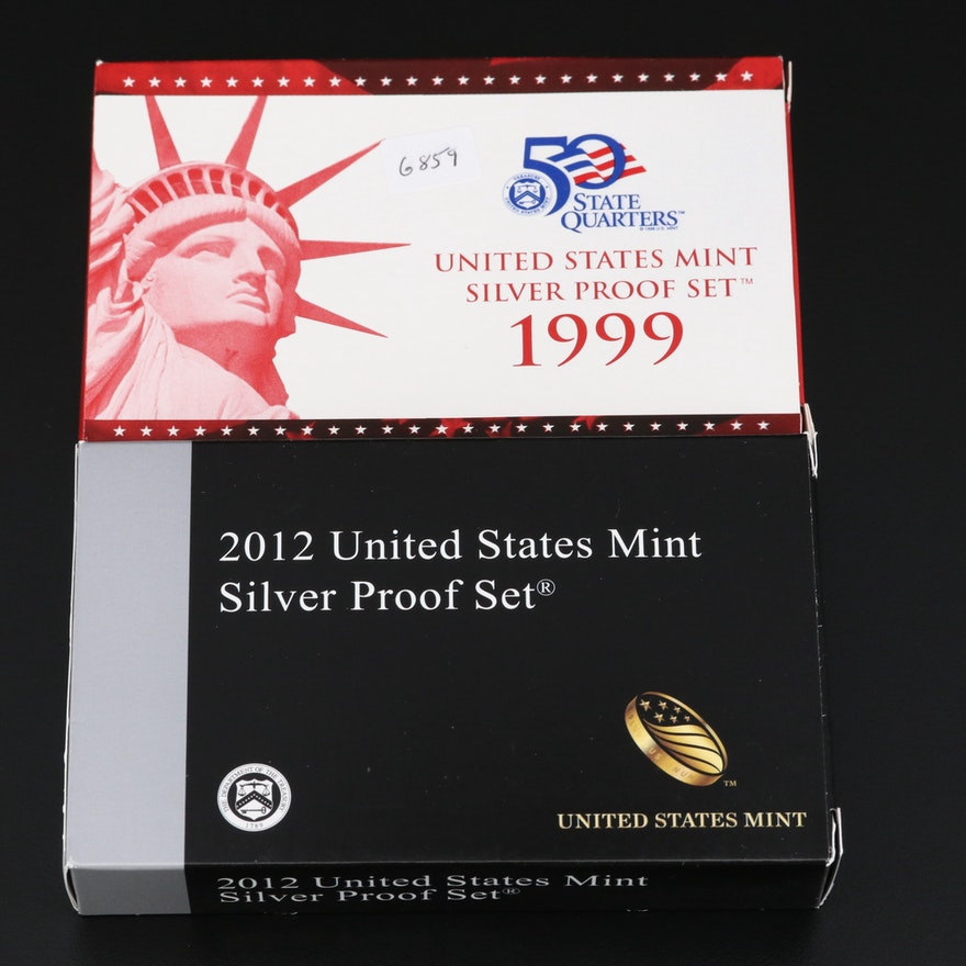 Key Date 1999 and 2012 United States Mint Silver Proof Sets