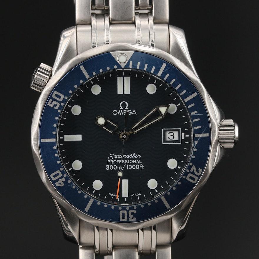 1998 Omega Seamaster Diver 300M Mid Size Stainless Steel Quartz Wristwatch