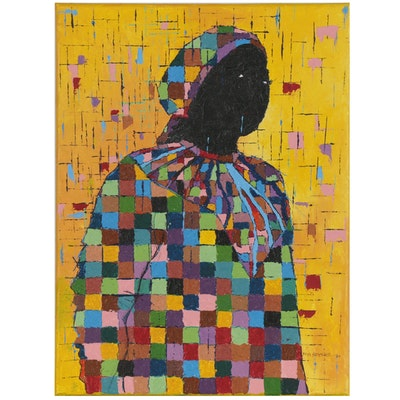 "Oluseyi Soyege Acrylic Painting ""Inner Beauty!"" 2021"