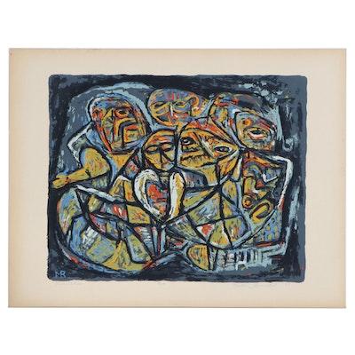 "Martin Rosenthal Serigraph ""Incantation No. 6,"" 1951"