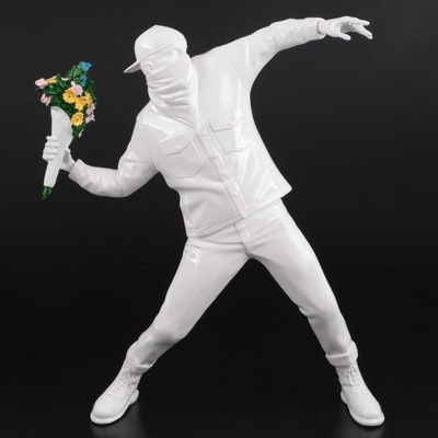 "Medicom Toy x Sync Resin Figurine after Banksy ""Flower Bomber"""
