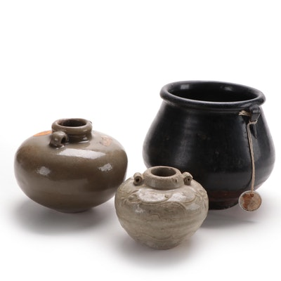 Three South East Asian Pottery Vases