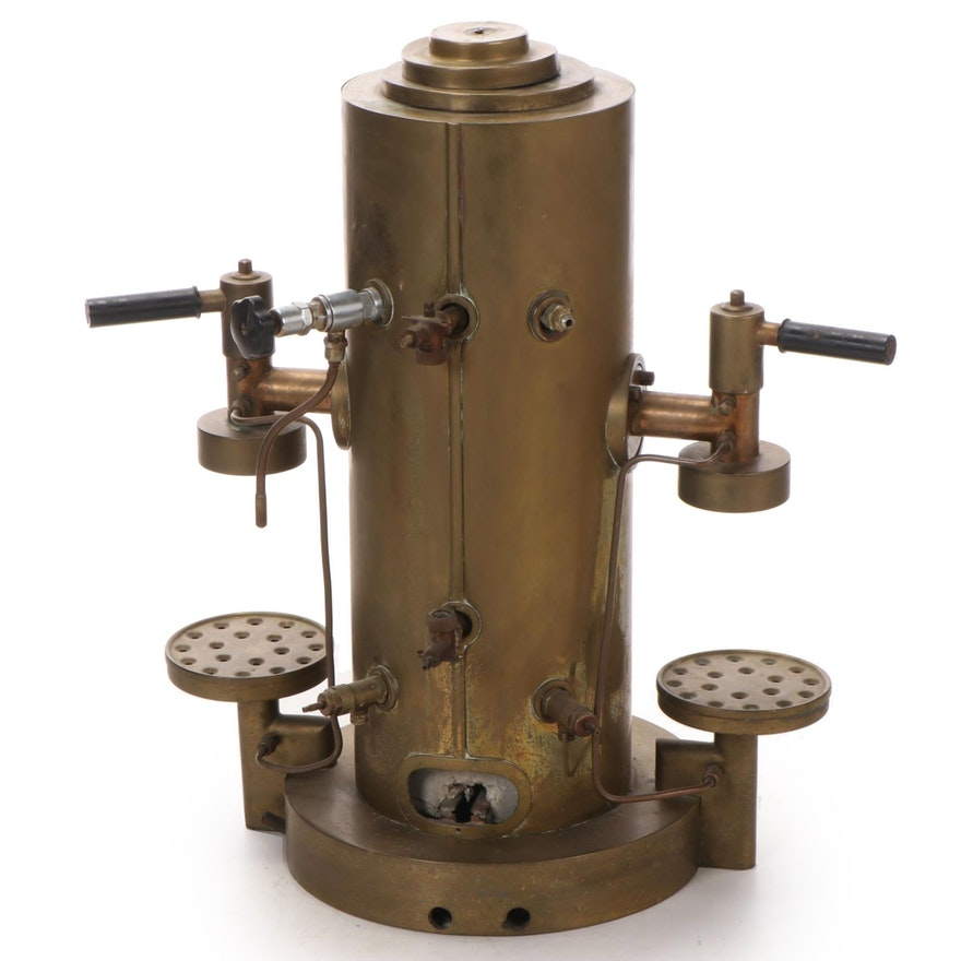 Brass and Copper Two-Group Espresso Machine