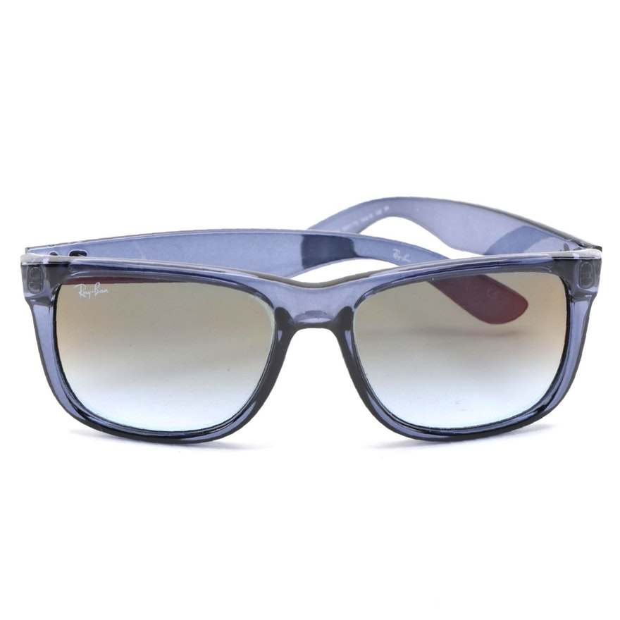 Ray-Ban RB4165 Clear Blue Justin Sunglasses with Case