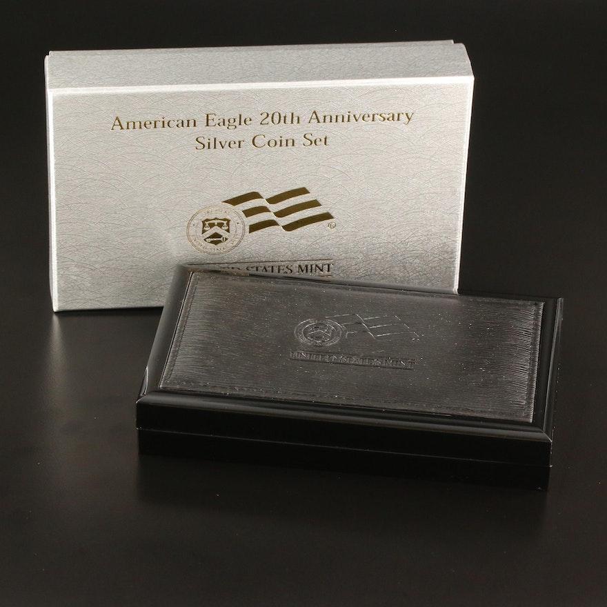 20th Anniversary American Eagle Silver Coin Set, 2006