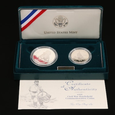1995 Commemorative Civil War Silver Coin Set