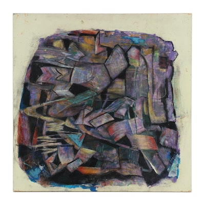 """Janice Schuler Mixed Media Painting """"...Let All Who Breathe Partake..."""""""