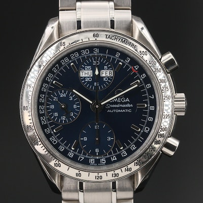 1999 Omega Speedmaster Day-Date Stainless Steel