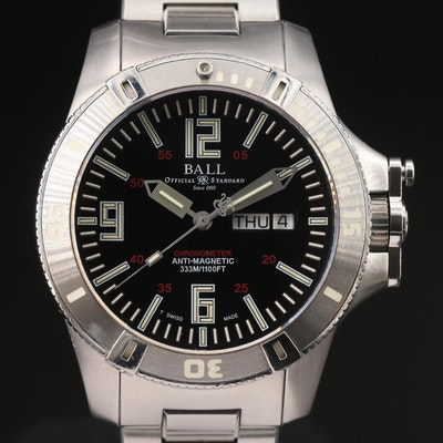 Ball Engineer Hydrocarbon Spacemaster Stainless Steel Automatic Wristwatch