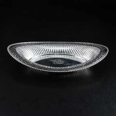 Meriden Britannia Co. Pierced Sterling Silver Serving Dish, Early 20th Century