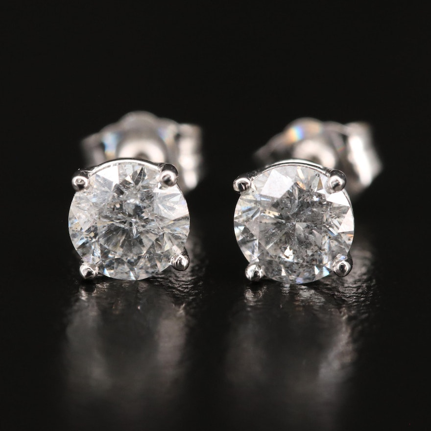 14K 1.31 CTW Diamond Stud Earrings