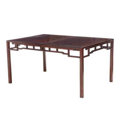 Chinese Hardwood Extending Dining Table