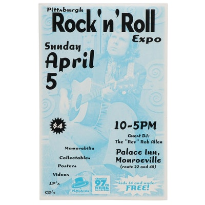 Van Morrison Commemorative Pittsburgh Rock 'n' Roll Expo Poster