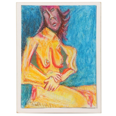 """Janice Schuler Pastel Drawing """"Brielle,"""" 2011"""