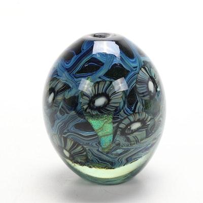 """Robert Eickholt """"Deep Sea"""" Handblown Art Glass Vase"""