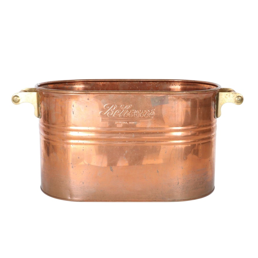 Behrens Copper Wash Bucket Tub, Mid-20th Century