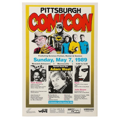 1989 Pittsburgh Comicon Poster, Special Guest Star Adam West