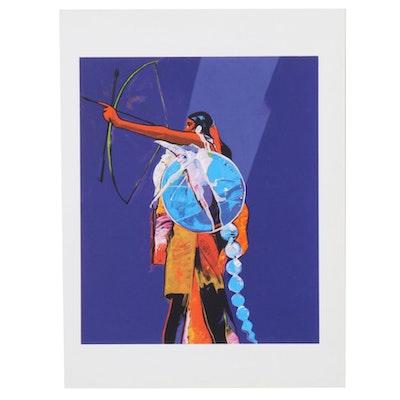 "John Nieto Serigraph ""Kiowa Archer,"" 1996"