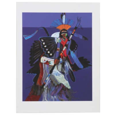 "John Nieto Serigraph ""Traditional Dancer,"" 1996"
