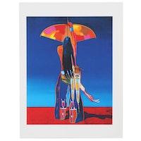 "John Nieto Digital Serigraph ""Cosmic Archer,"" 1996"