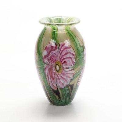 Robert Eickholt Handblown Art Glass Vase, 2008