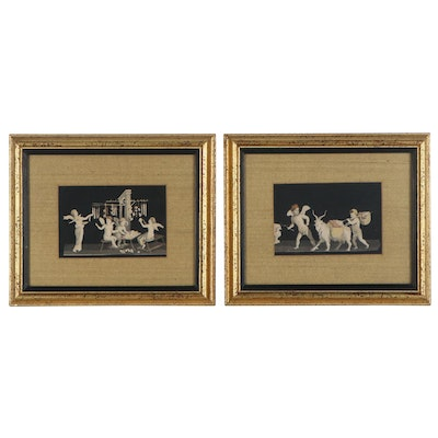 Lithographs of Putti with Goats, Mid-Late 20th Century