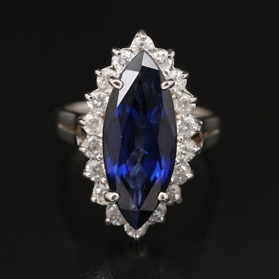 14K Sapphire and 1.02 CTW Diamond Ring