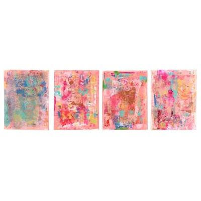 Janice Schuler Mixed Media Abstract Paintings, 2017