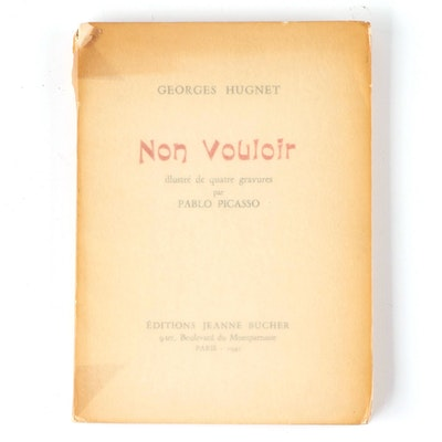 "Pablo Picasso Illustrated ""Non vouloir"" by Georges Hugnet, 1942"