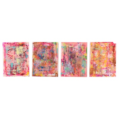 Janice Schuler Abstract Mixed Media Paintings, 2017