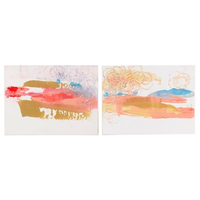 Janice Schuler Abstract Acrylic Paintings, 2017