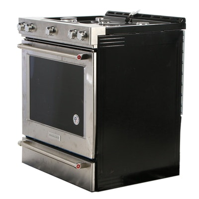 KitchenAid Stainless Steel 5.8 Cu. Ft. Self-Cleaning Gas Convection Range