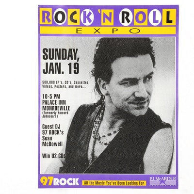 Bono Commemorative Pittsburgh Rock 'N Roll Expo Poster