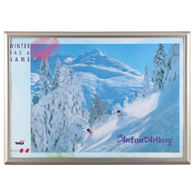 Vintage Travel Poster for St. Anton am Arlberg, Austria